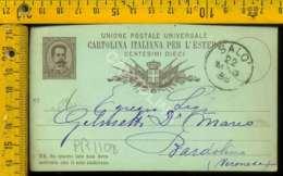 Regno Umberto Cartolina Intero Postale Lago Di Garda Bardolino Da Salò - 1878-00 Umberto I