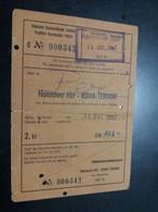 Hannover Hbf - Roma Termini 1962 / Germania - Italia Via Bebra, Munchen, Kufstein, Brennero, Bologna, Firenze - Treni