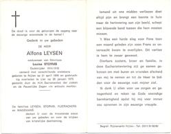 Devotie - Doodsprentje Overlijden - Oudstrijder Alfons Leysen - Nijlen 1890 - Lier 1975 - Décès