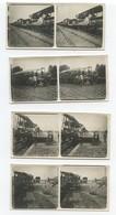 Serie De 4 Photos De Poilus Déchargeant Des Avions Démontés D'un Train Aviation 14-18 12,5 X 6 Cm - 1914-18
