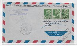 ALGERIE - 1953 - ENVELOPPE Par 1° VOL AIR FRANCE - ALGER à OUARGLA - Algérie (1924-1962)