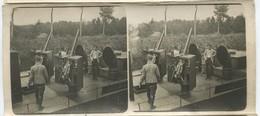 Photo De Canonniers Marins Sur Péniche Avec Canons De Petit Calibre  14-18 12,5 X 6 Cm - 1914-18