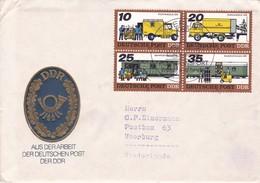 DDR Ersttagsbrief Deutschland 1978 Deutsche Post Postzug Eisenbahn Railway Postwagen Lkw Postbeamte Gabelstapler - FDC: Enveloppes