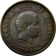 Monnaie, Portugal, Carlos I, 20 Reis, 1891, TB, Bronze, KM:533 - Portugal