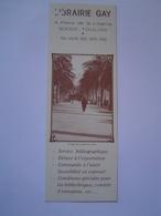 MARQUE PAGE : PUBLICITE LIBRAIRIE GAY / TOULON - Marque-Pages