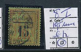 GUADELOUPE DALLAY MAURY 8 I 10.5 MM USED OBLITERE - Guadeloupe (1884-1947)