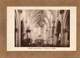 CPA - ROSOY (52) - Aspect De L'intérieur De L'Eglise Dans Les Années 20 / 30 - France