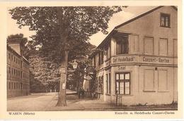 WAREN Müritz Kietzstrasse Mit Carl Heidelbachs Concert Garten Saal Belebt TOP-Erhaltung - Waren (Müritz)