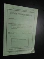 STRADE FERRATE ITALIANE - Scontrino Comprovante L'acquisto Di Biglietto - Non Classificati
