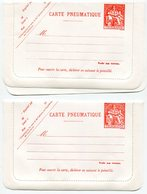 RC 11349 FRANCE ENTIERS PNEUMATIQUES 8f40 + 12f NEUFS COTE 18€ - Pneumatic Post