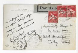 ALGERIE - 1933 - CARTE Par AVION De ALGER => VICHY - Algérie (1924-1962)