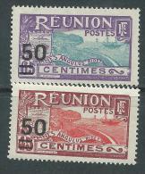 Réunion  N° 123 / 24 XX  Timbres De 1922 / 28 Avec Nlle Valeur Les 2 Valeurs Sans Charnière,  TB - Réunion (1852-1975)