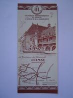 MARQUE PAGE Ancien : PUBLICITE CHEMIN DE FER ALSACE - LORRAINE / COLMAR - Marque-Pages