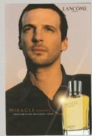 Carte Publicitaire Format Carte Postale + Patch  -  Miracle De Lancome - Perfume Cards