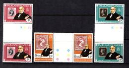 FALKLAND  ISLANDS   1979    Death  Centenary  Of  Sir  Rowland  Hill     Set  Of  3  Gutter  Pairs       MNH - Falkland Islands