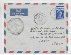 ALGERIE - 1958 - GENDARMERIE - ENVELOPPE De DUZERVILLE (BONE) => PARIS - Lettres & Documents