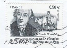 FRANCE 2011 CLAUDE BOURGELAT OBLITERE SUR FRAGMENT YT 4553 - - France
