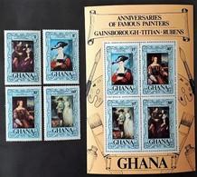 # Ghana 1977**Mi.710-17  Birthdays Of Painters ,MNH  [23;62] - Rubens