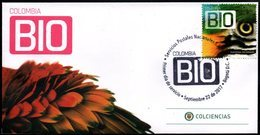 COLOMBIA- KOLUMBIEN- 2017 FDC/SPD. COLOMBIA BIO- GUACAMAYA BIRD. - Colombia
