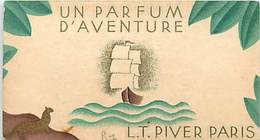 - Ref CH378- Parfum -carte Parfumée 9cms X 5cms -parfum D Aventure - Lt Piver Paris - - Oud (tot 1960)