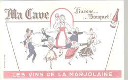 Buvard Les Vins De La Marjolaine Ma Cave Finesse Et Bouquet ! - Liqueur & Bière