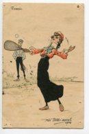 ILLUSTRATEUR 0037 Félix Abbé Duval Une Joueuse De TENNIS Au Service 1904 - Illustrators & Photographers