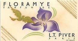 - Ref CH376- Parfumerie  -carte Parfumée 9cms X 5cms -parfum Floramye - Lt Piver Paris - Carte Bon Etat - - Oud (tot 1960)