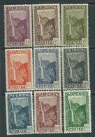 Réunion  N° 125 / 33 X Partie De Série : Les 9  Valeurs Trace De  Charnière Sinon  TB - Réunion (1852-1975)