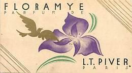 - Ref CH375- Parfumerie -carte Parfumée 9cms X 5cms -parfum Floramye -lt Piver Paris -mini Calendrier 1931- - Perfume Cards