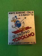 SPORT INVERNALI SPILLE  13° Trofeo Topolino Bondone 1972 - Italia