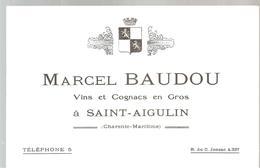 Buvard Marcel Baudou Vins Et Cognac En Gros à Saint-Aigulin Charente Maritime - Liqueur & Bière