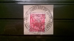 FRANCOBOLLI STAMPS GERMANIA DEUTSCHE DDR 1952 USED FRAMMENTO LAVORATORI ANNULLO OBLITERE GERMANY - DDR