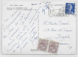 TUNISIE - 1957 - CARTE De LE LAVANDOU => BIZERTE Avec TAXE - Tunisie (1956-...)