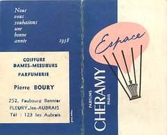 - Ref CH373-carte Parfumée 2 Volets - 8,5cms X 5cms Chaque Volet -parfum Cheramy Paris -espace -calendrier 1958- - Cartes Parfumées
