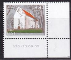 2005, EESTI, 526, St.-Katharinen-Kirche, Karja. MNH ** - Estonia