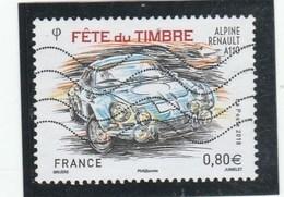FRANCE 2018 FETE DU TIMBRE ALPINE RENAULT A110 OBLITERE YT 5204 - France