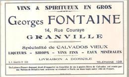 Buvard Georges Fontaine 14, Rue Couraye à Granville Vins & Spiritueux En Gros - Liqueur & Bière