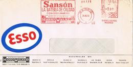 31209. Carta MADRID 1972. Franqueo Mecanico SANSON, Baterias. Viñeta, Label ESSO - 1931-Hoy: 2ª República - ... Juan Carlos I