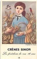 - Ref CH371-carte Parfumée -7,5cms X 4,5cms - Cremes Simon -tableau D Apres Ph Noyer -la Fraicheur De Vos 16ans - - Cartes Parfumées