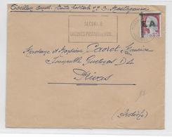 ALGERIE - 1962 - DECARIS SURCHARGE EA Sur ENVELOPPE De MOSTAGANEM => PRIVAS - Algérie (1962-...)