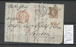 France  BALLON MONTE - 17/11/1870 - Le GENERAL ULRICH Pour Londres - Angleterre - - 1870 Siège De Paris