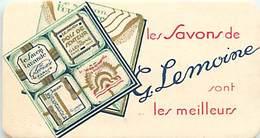 - Ref CH370- Parfumerie -carte Parfumée -9cms X 4,5cms -savon -les Savons De G Lemoine Sont Les Meilleurs - Cartes Parfumées