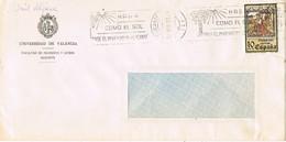 31210. Carta ALICANTE 1981. Rodillo Turistico Sol En Invierno. Universidad Valencia - 1981-90 Cartas