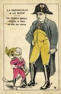 The Frog And The Ox, Napoleon Bonaparte, Frog In Uniform (1910s) Postcard - Characters