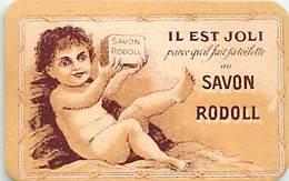 - Ref CH369- Parfumerie -carte Parfumée -7,5cms X 5cms -savon -savons - Savon Rodoll -la Creme Rodoll - - Cartes Parfumées