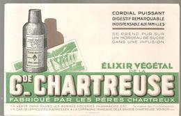 Buvard ELIXIR VEGETAL DE LA GRANDE CHARTREUSE Fabriqué Par Les Pères Chartreux - Liqueur & Bière