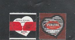 FRANCE 2018 SONIA RYKIEL PARIS BAISER OBLITERE - YT 5198 + 5199 - France