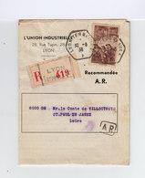 Texte Modifiant La Loi Du 1er Juillet 1938 Envoyé En R. Par L'Union Industrielle. CAD Lyon Terreaux 1938. (1024x) - Decrees & Laws