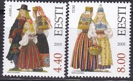 2005, EESTI, 533/34, Trachten Der Regionen. MNH ** - Estonia