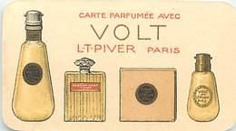 - Ref CH368- Parfumerie -carte Parfumée -8,5cms X 5cms -parfum Volt Lt Piver Paris -mini Calendrier 1924  - - Cartes Parfumées